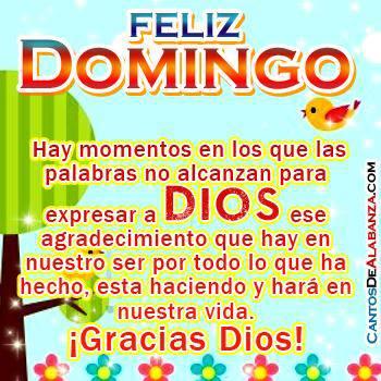 Feliz Domingo Dios