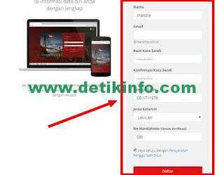 isian data daftar email domain merahputih id