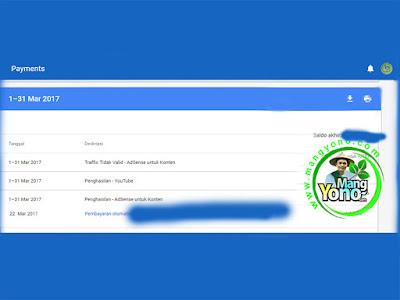 Pembayaran Google Adsense Bulan Maret 2017