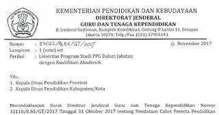 CEK! Daftar Linieritas Guru Program PPG Terlengkap dan Resmi Dirjen GTK Kemdikbud