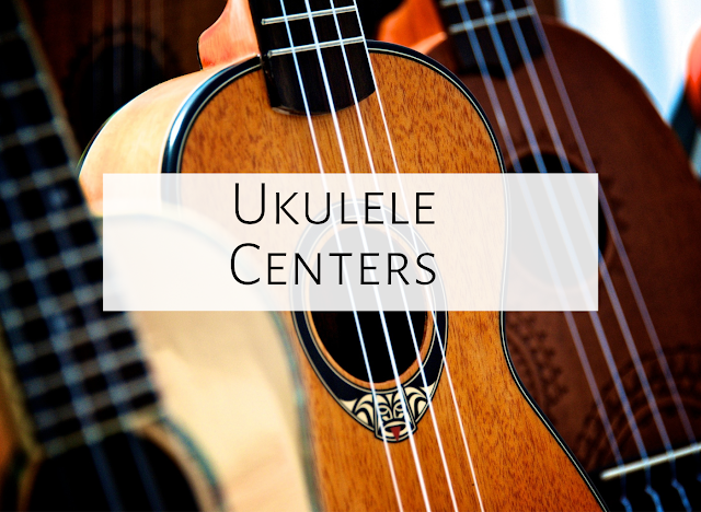Ukulele Centers in the Music Room