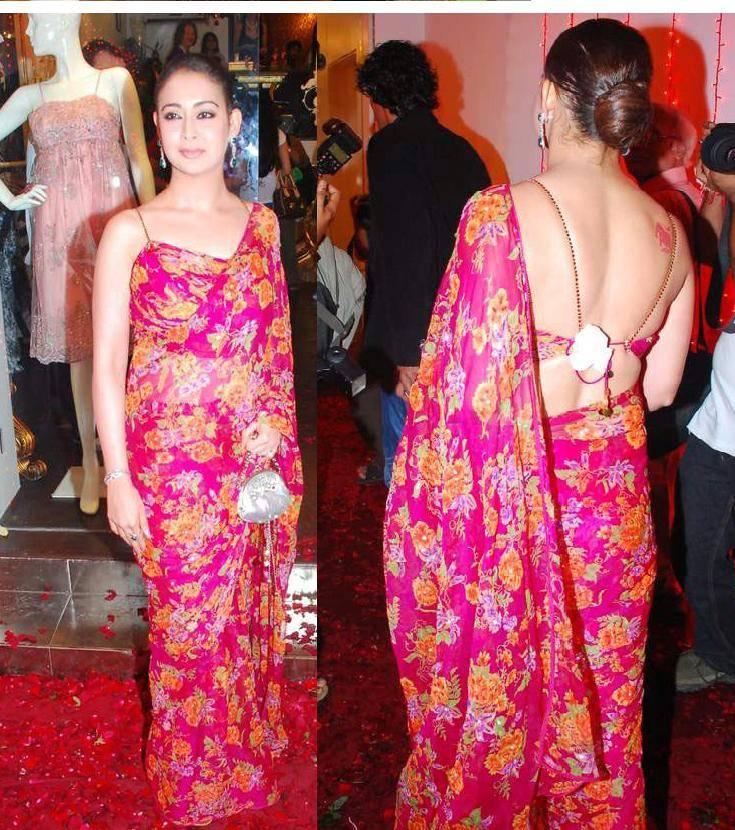 Preeti Jhangiani In Red Saree