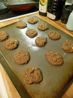 Mocha Chocolate Chip Oatmeal Cookies. Fresh from the oven!