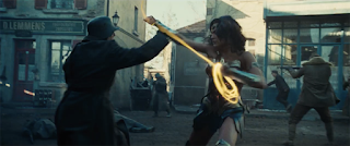 Gal Gadot as Wonder Woman magic lasso action scene trailer