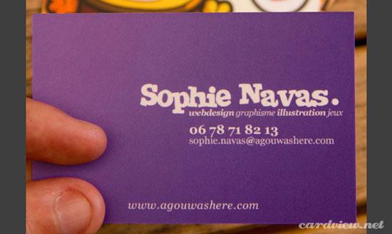 tarjetas de presentacion violeta  ejemplos