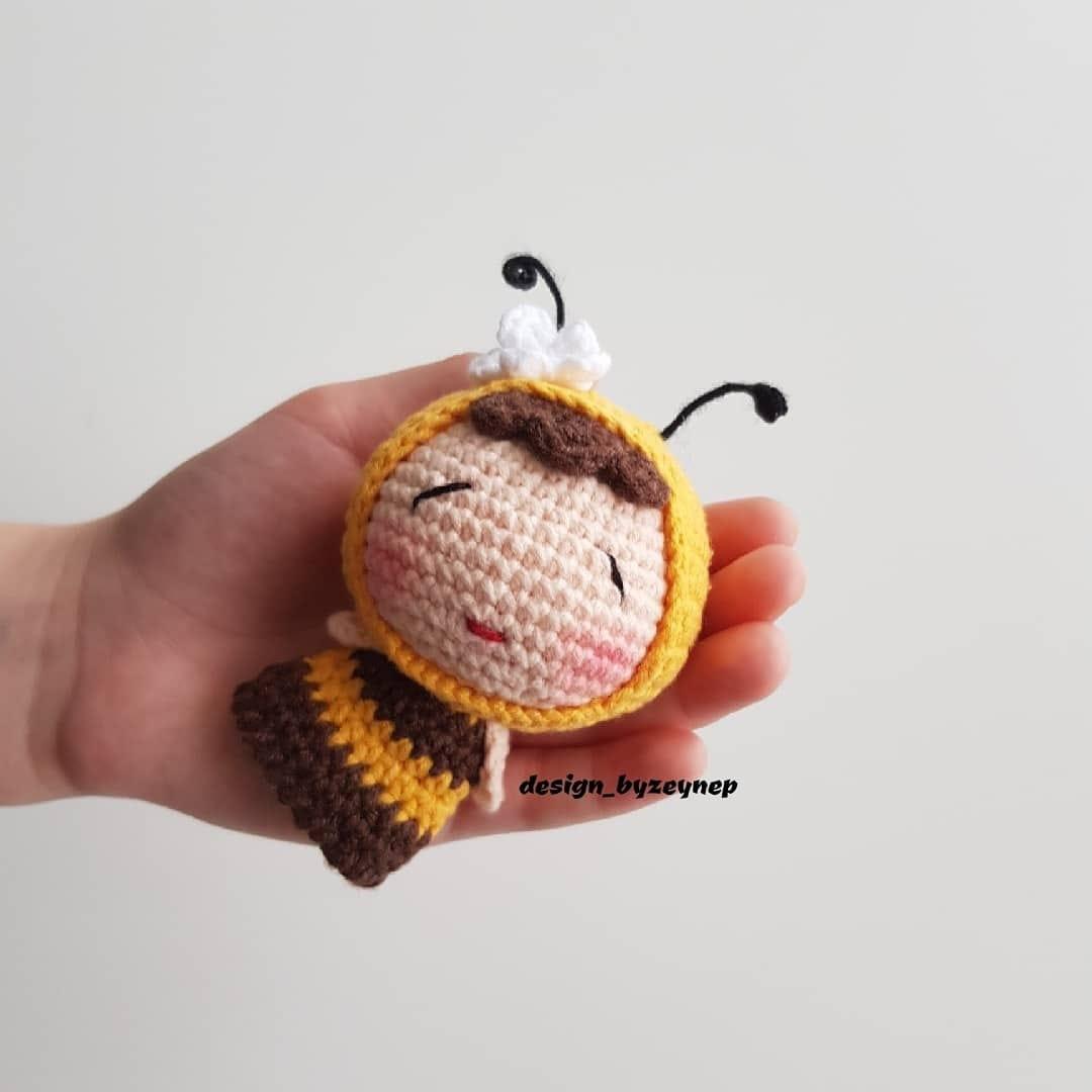 Amigurumi Çıngırak Arı Yapımı - Canım Anne | 1080x1080
