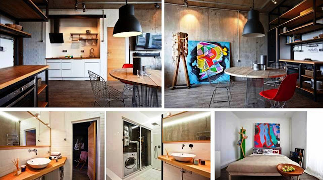Amazing Concrete One Room Apartment Design - Care Decor