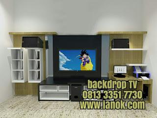 bacdrop Tv minimalis Murah Surabaya sidoarjo