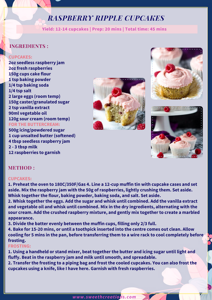 RASPBERRY RIPPLE CUPCAKES RECIPE