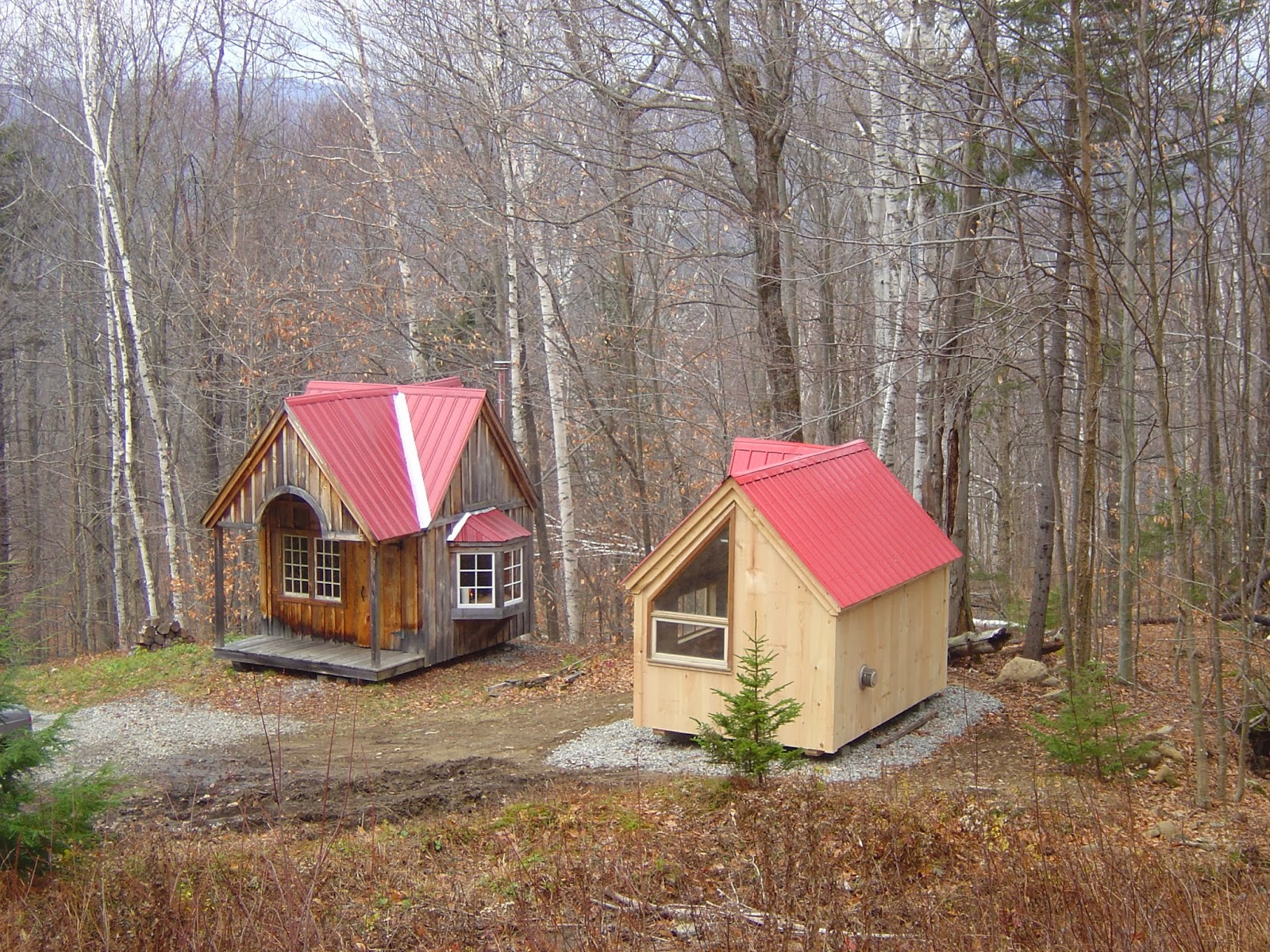 Tiny House N Shed Compound In New England Three Micro Cottages On A Mountain