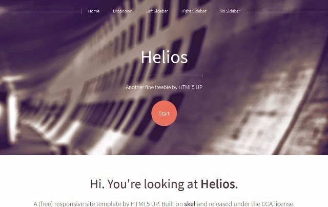 Helios - Free Html5 Template