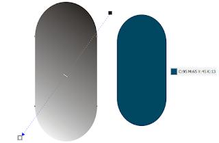 mengatur warna radial di corel
