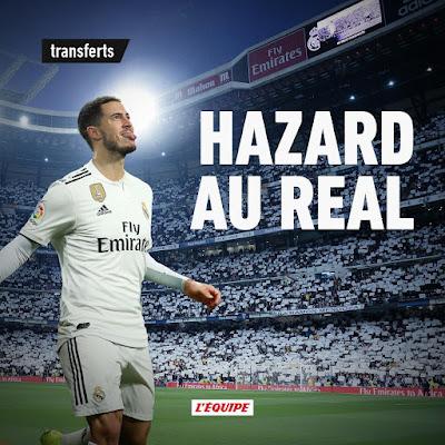 L'Équipe  : Hazard sera jugador del Real Madrid despues de la final de Europa League