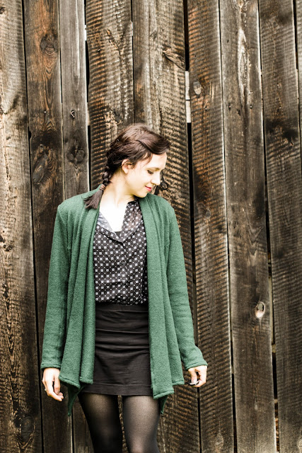 swoon diy scarf neck cardigan