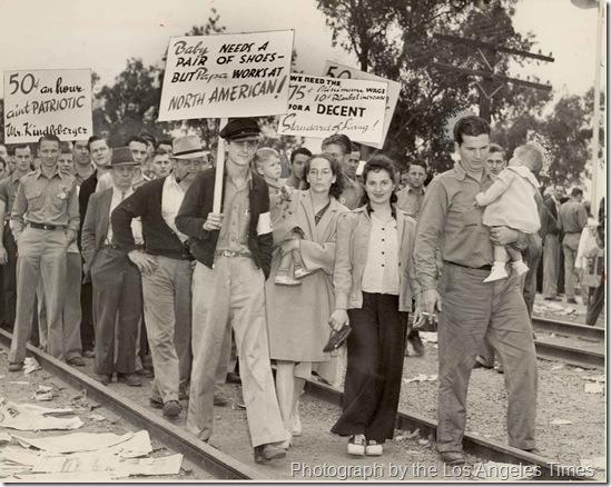 North American Aviation Strike in Los Angeles 6 June 1941 worldwartwo.filminspector.com