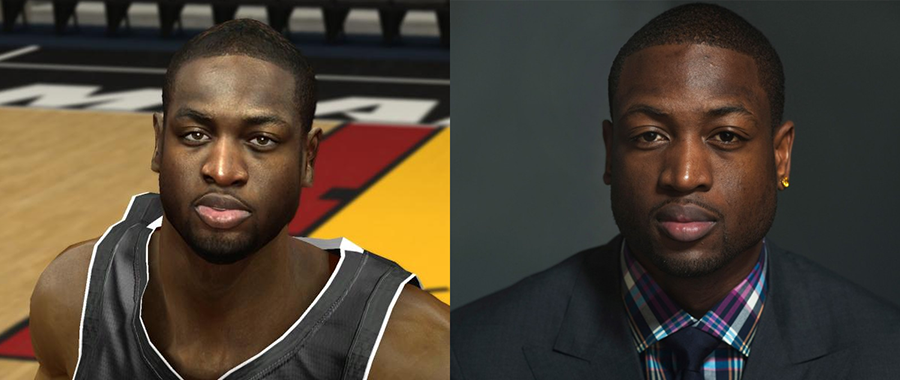 NBA2K Face vs Real life Comparison D.Wade