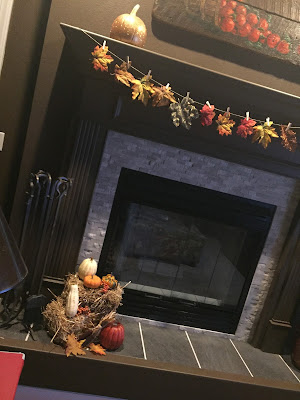 #millsnewhouse Fall mantle, Fall decorating
