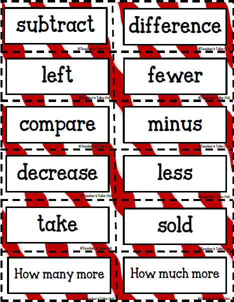 Free Key Words Subtraction