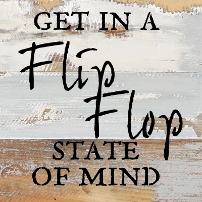Flip Flop State of Mind Wall Art