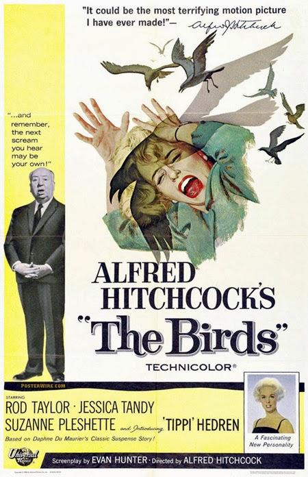 Αφίσα για Τα Πουλιά του Άλφρεντ Χίτσκοκ
