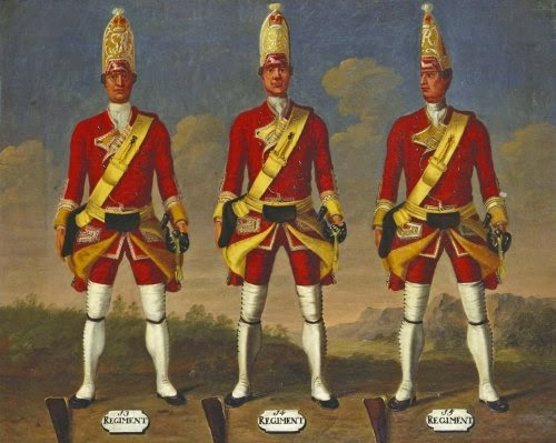13th, 14th and 15th Regiments of Foot, Grenadiers, 1751