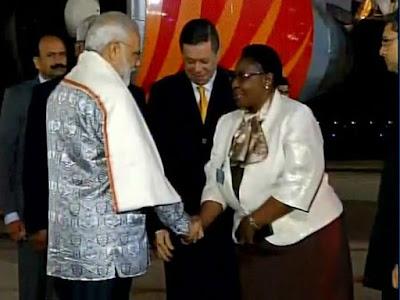 Modi arrives in Durban