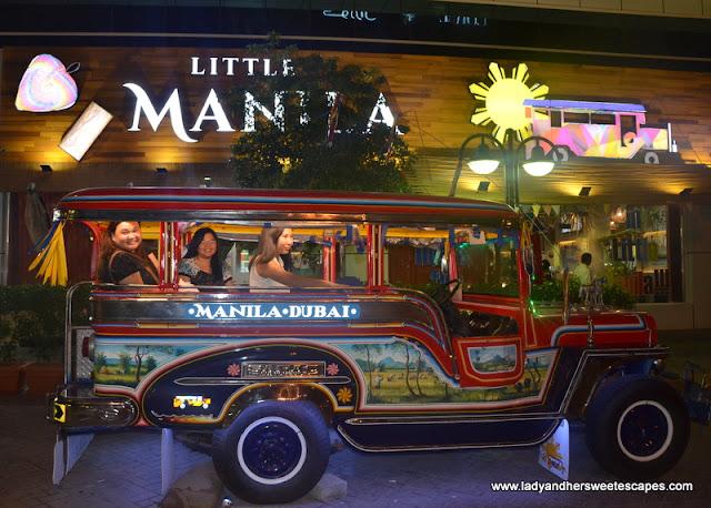Little Manila jeepney in Dubai