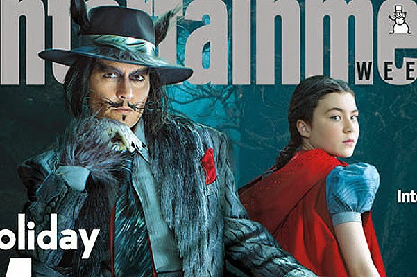 Johnny Depp in the image of a wolf on the cover of Entertainment Weekly