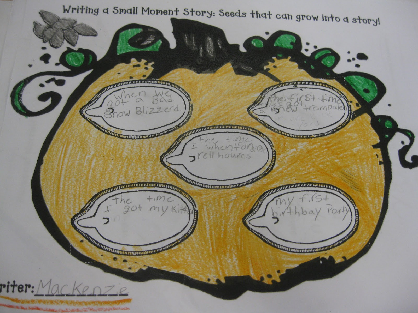 Third Grade Thinkers Fall Writer S Workshop Idea Writing
