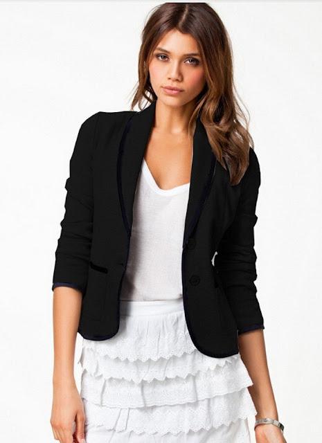 Slim Fit Short Design Blazer Pocket