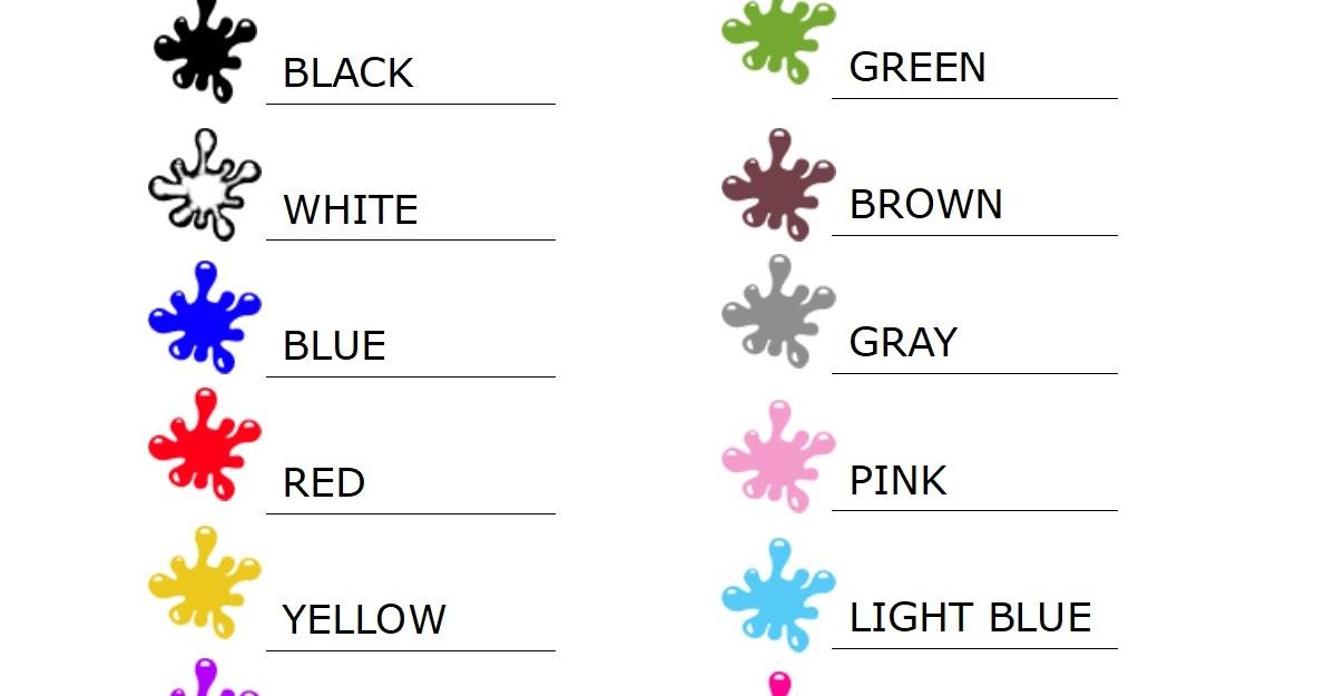 Mappe per la scuola colori in inglese for Disfare la valigia in inglese