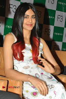 Bollywood Actress Adah Sharma Pos in White Printed Short Dress at OPPO F3 Plus Selfie Expert Mobile Launch .COM 0012.jpg