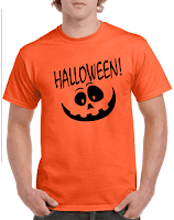 Halloween T-shirt Happy Pumpkin face