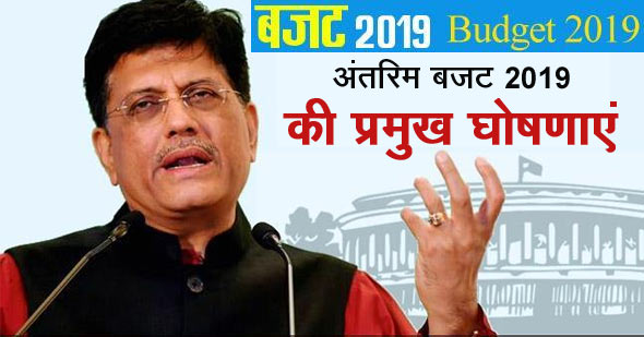 Budget 2019 Highlights in Hindi