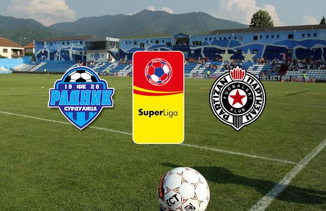 Superliga Srbije: Partizan - Radnik Surdulica uživo prenos