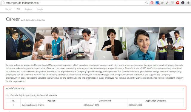 Cara Melamar Online Lowongan Kerja di Garuda Indonesia