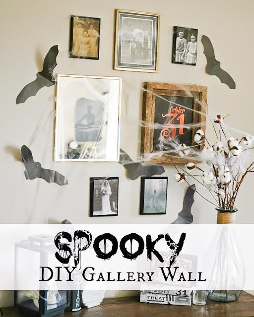 Spooky Halloween gallery wall, Halloween