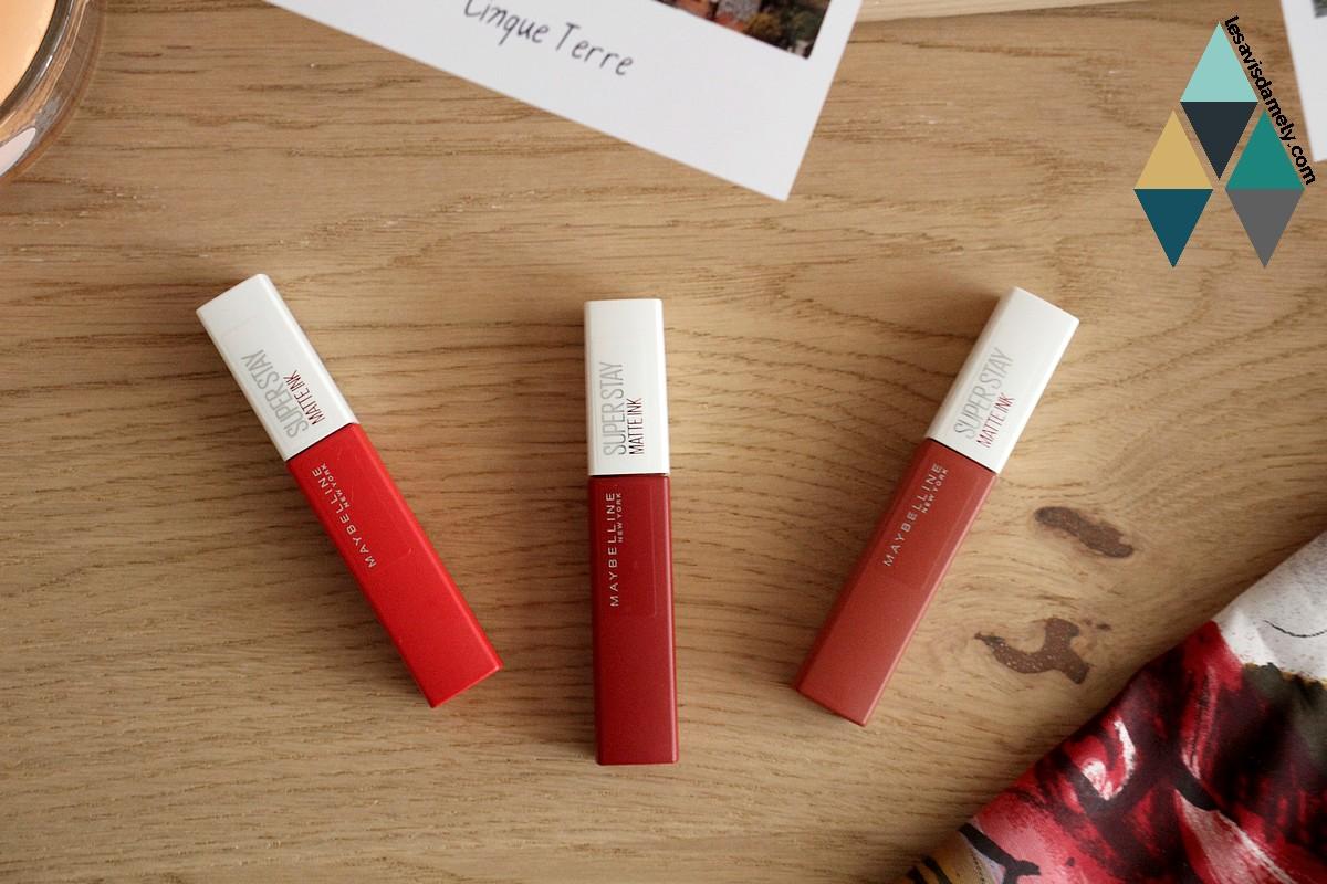 rouge à lèvres liquide mat Maybelline longue tenue