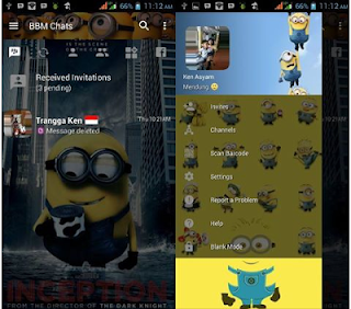 BBM Mod Minion New Version 3.2.5.12 Full Apk Terbaru