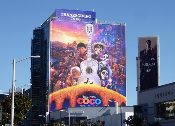 Giant Coco film billboard