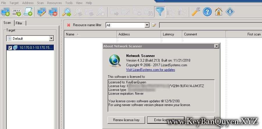 LizardSystems.Network.Scanner.4.3.2.213 Full Key, Công cụ quét IP để phân tích hệ thống mạng