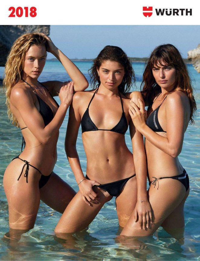 Hannah Ferguson, Daniela Lopez Osorio and Alyssa Miller – 'Wurth Modelkalender' 2018 Calendar