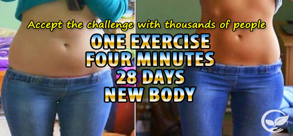 One Exercise, Four Minutes, 28 Days, New Body