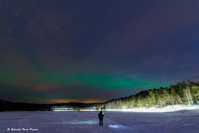 Aurora Boreal sobre Sognsvann - Oslo, Noruega por El Guisante Verde Project