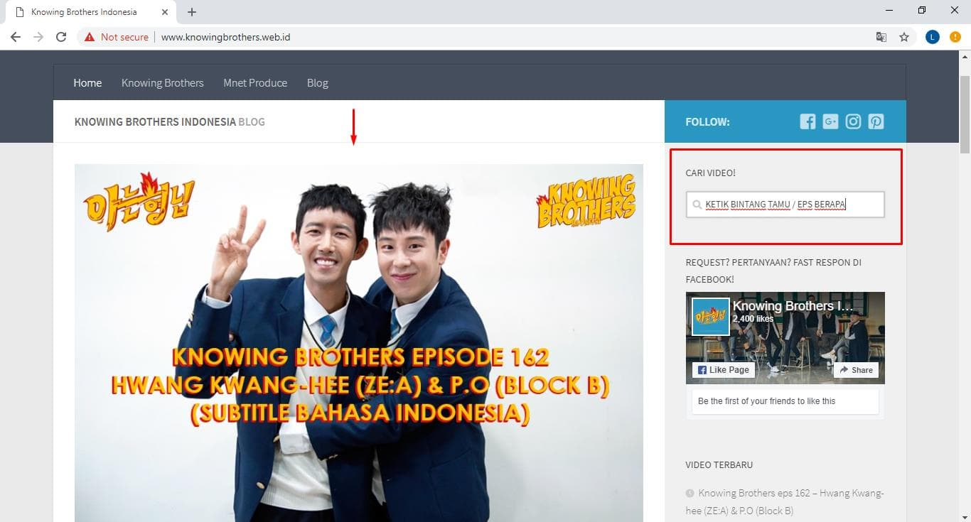 Cara download video Knowing Brothers Indonesia