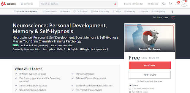 Neuroscience: Personal Development, Memory & Self-Hypnosis-Udemy Free (100%)