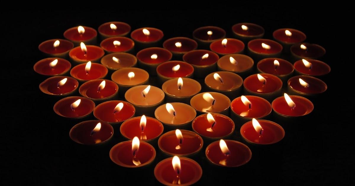 Fondos De Pantalla San Valentin Gratis: Fondo De Pantalla Dia De San Valentin Velas En Forma De