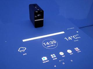 جهاز بروجيكتور Xperia Touch بنضام اندرويد الجديد من سوني