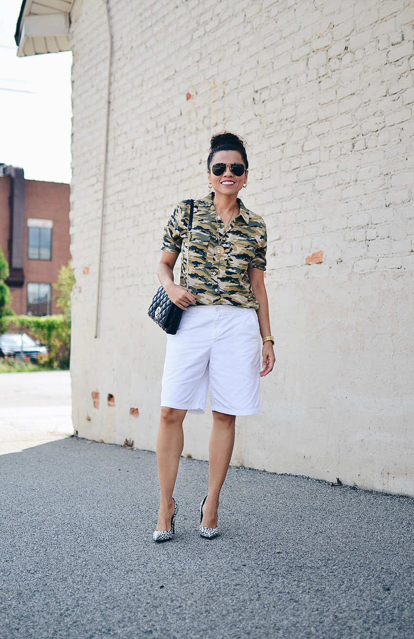Camouflage top street style