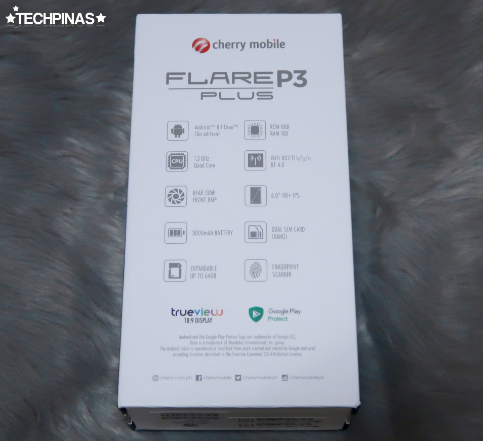 Cherry Mobile Flare P3 Plus Specs